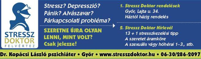 Stressz, depresszió, pánik, fóbia, alvászavar, győri pszichiáter, depresszió, pszichológus